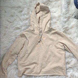 Gymshark open back hoodie, oatmeal small NWT